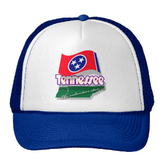 Tennessee mapflag cap trucker hat