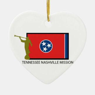 TENNESSEE NASHVILLE MISSION LDS CTR CERAMIC HEART ORNAMENT