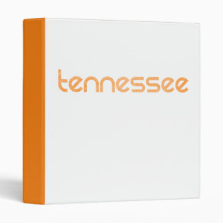 Tennessee Orange 3 Ring Binders