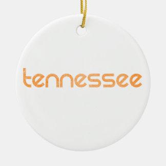 Tennessee Orange Ceramic Ornament