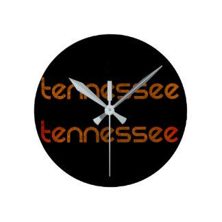 Tennessee Orange Round Clock