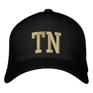 Tennessee Postal Code Baseball Cap (Black/Gold)
