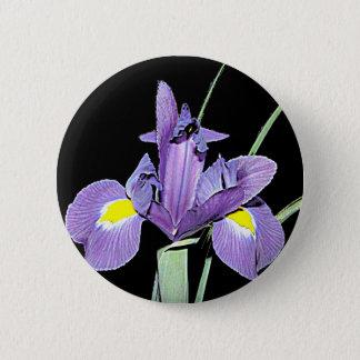 Tennessee Purple Iris 2 Inch Round Button