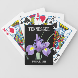 Tennessee Purple Iris Bicycle Playing Cards