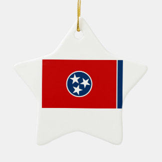 Tennessee State Flag Ceramic Star Ornament