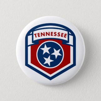 Tennessee State Flag Crest Shield Style 2 Inch Round Button
