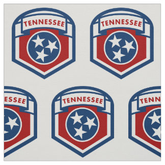 Tennessee State Flag Crest Shield Style Fabric