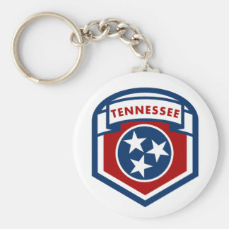 Tennessee State Flag Crest Shield Style Keychain