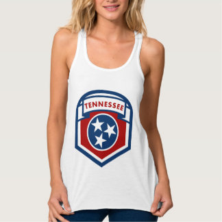 Tennessee State Flag Crest Shield Style Tank Top