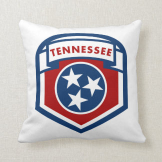 Tennessee State Flag Crest Shield Style Throw Pillow