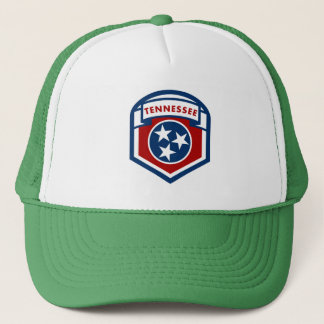 Tennessee State Flag Crest Shield Style Trucker Hat