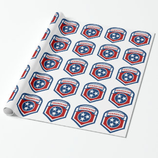 Tennessee State Flag Crest Shield Style Wrapping Paper