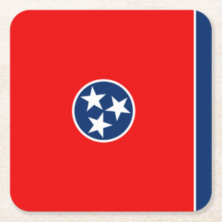 Tennessee State Flag Design Square Paper Coaster