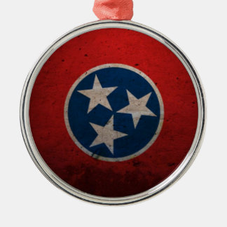 Tennessee State Flag Metal Ornament