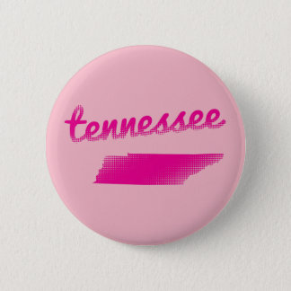 Tennessee state in pink 2 inch round button