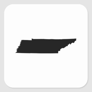 Tennessee State Outline Square Sticker