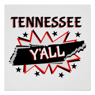 Tennessee State Pride Y'all Poster
