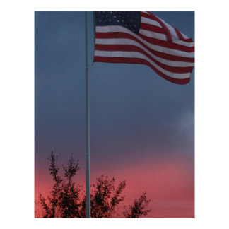 Tennessee Sunset and Flag Letterhead