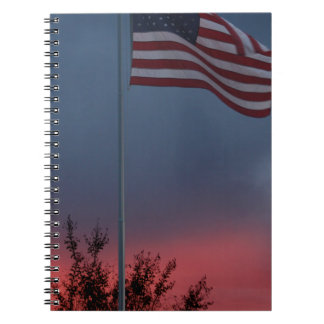 Tennessee Sunset and Flag Notebook
