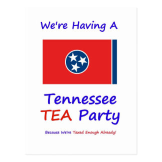 Tennessee TEA Party - We're Taxed Enough Already! Postcard