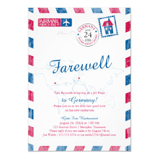 Tennessee to Germany Airmail Moving Card