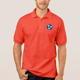Tennessee Tri Star Flag Volunteers Polo Shirt
