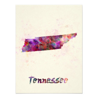 Tennessee U.S. state in watercolor Photographic Print
