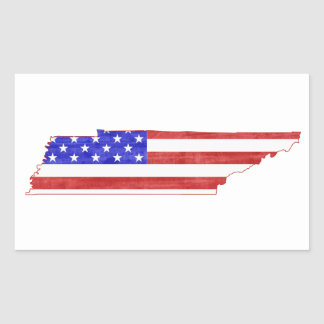 Tennessee USA flag silhouette state map Sticker