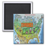 Tennessee USA Map Fridge Magnet