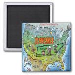 Tennessee USA Map Fridge Magnet