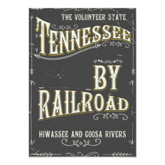 Tennessee USA vintage Railroad poster Card