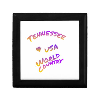 Tennessee usa world country, colorful text art gift box