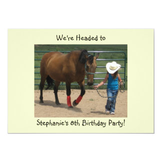Tennessee Walking Horse and Girl - Party Card
