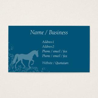 Tennessee Walking Horse Flourish Profile Business Card