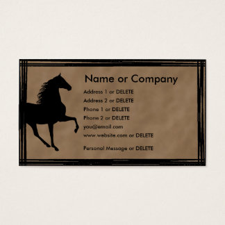 Tennessee Walking Horse Silhouette Personal Business Card