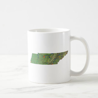 Tennesseean Flag + Map Mug