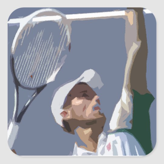 Tennis Ace Square Sticker