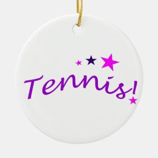 Tennis arqué avec des étoiles décoration de noël