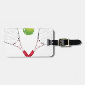 Tennis Ball and Racket2 Bag Tag