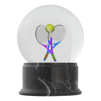 Tennis Ball and Rackets Snow Globe