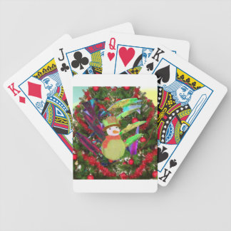 Tennis ball as ornament in Christmas tree Bicycle Playing Cards