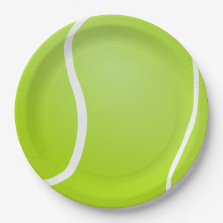 Tennis Ball background 9 Inch Paper Plate