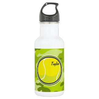 Tennis Ball; bright green camo, camouflage