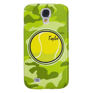 Tennis Ball bright green camo camouflage Samsung Galaxy S4 Cover