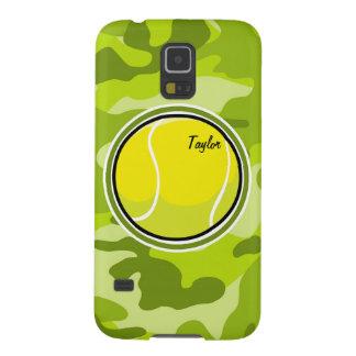 Tennis Ball bright green camo camouflage Galaxy S5 Cover