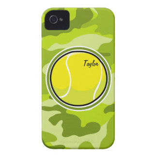 Tennis Ball bright green camo camouflage iPhone 4 Cover