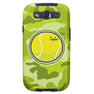 Tennis Ball bright green camo camouflage Samsung Galaxy S3 Case