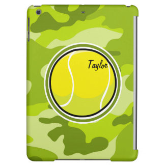 Tennis Ball bright green camo camouflage Cover For iPad Air