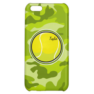 Tennis Ball bright green camo camouflage iPhone 5C Cases