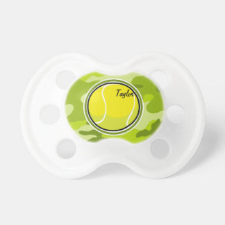 Tennis Ball bright green camo camouflage Baby Pacifiers